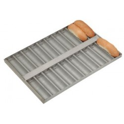 Aluminized baguette tray with double canals