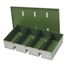 Aluminized steel set of pans with single lid