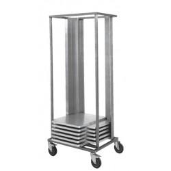 Inox storage trays rack