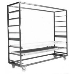 Trolley for loading frames